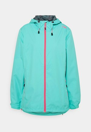 WOMAN RAIN JACKET FIX HOOD - Giacca outdoor - giada