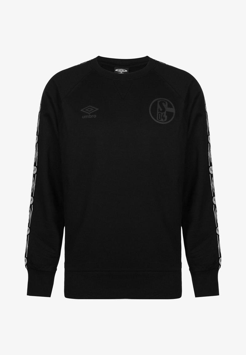 Umbro - FC SCHALKE 04 TAPED HERREN - Sweatshirt - black