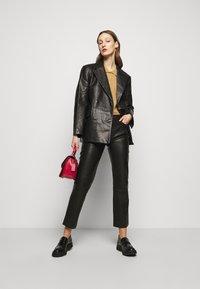 House of Dagmar - CHARLOTTE  - Leather jacket - black - 7