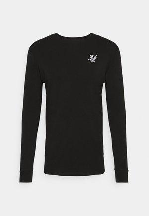 LONG SLEEVE GYM TEE - Bluzka z długim rękawem - jet black
