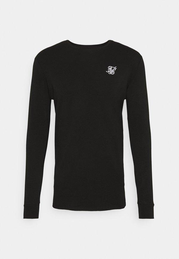 SIKSILK LONG SLEEVE GYM TEE - Bluzka z długim rękawem - jet black/czarny Odzież Męska CNBC