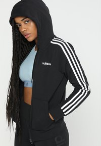adidas Performance - veste en sweat zippée - black/white - 0