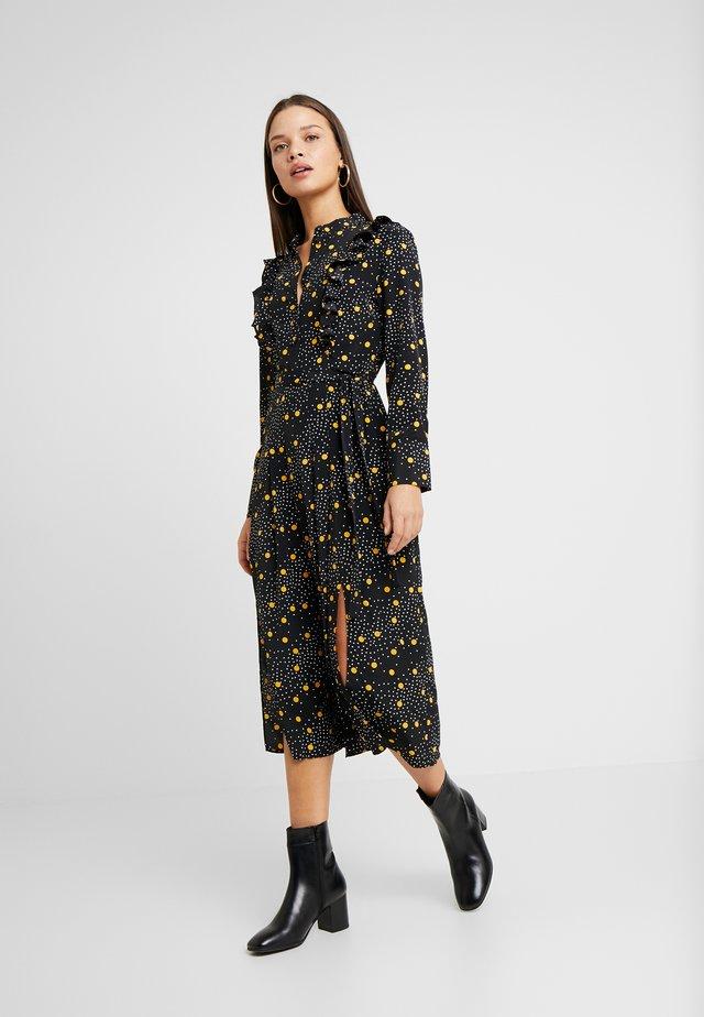 RUFFLE DRESS - Maxi dress - black