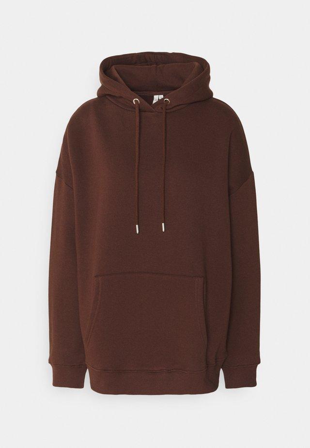 OVERSIZED HOODIE - Hoodie - brown
