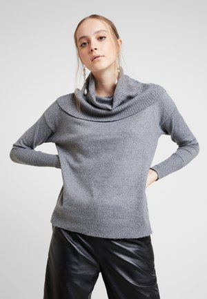 VMBRILLIANT  COWLNECK  - Jumper - medium grey melange