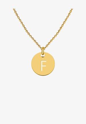MIT ANHÄNGER BUCHSTABENKETTE F - Necklace - gold