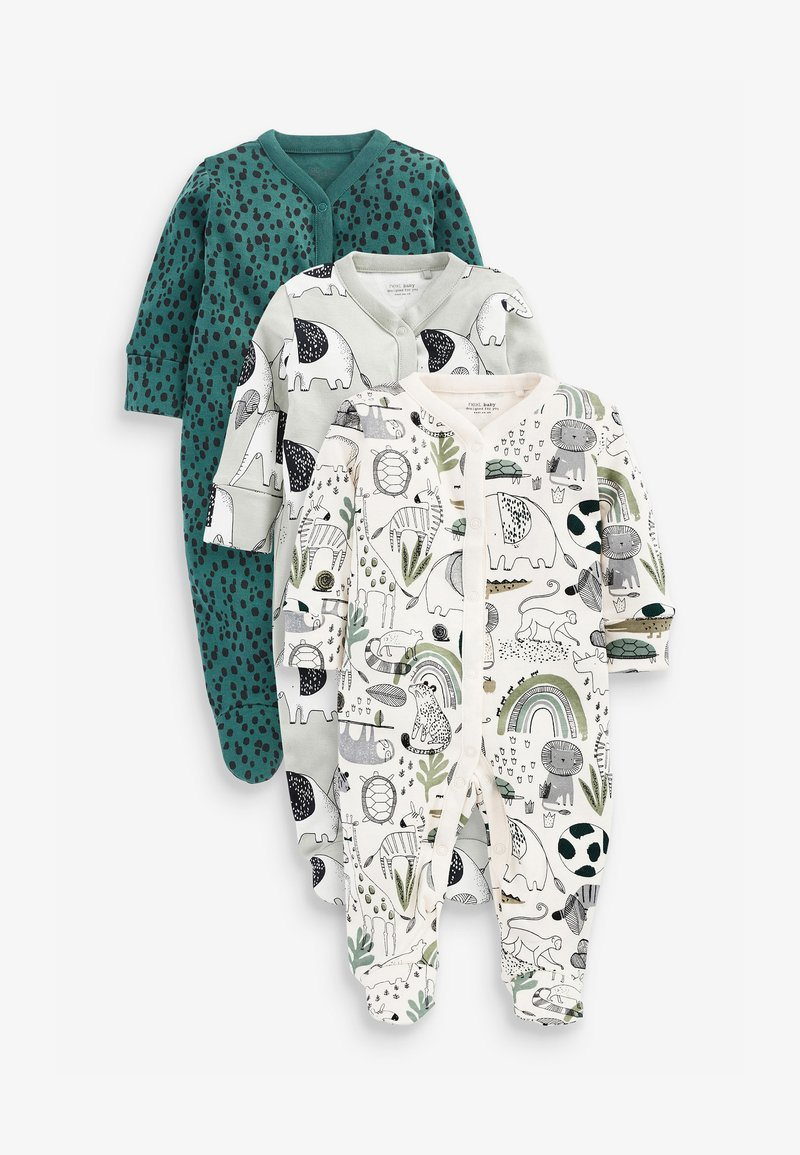 Next - 3 PIECE PACK ELEPHANT  - Sleep suit - green