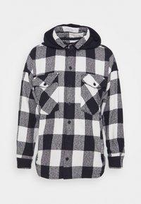 Tigha - LANDO HOOD - Skjorta - black/concrete grey - 5