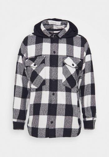 LANDO HOOD - Shirt - black/concrete grey