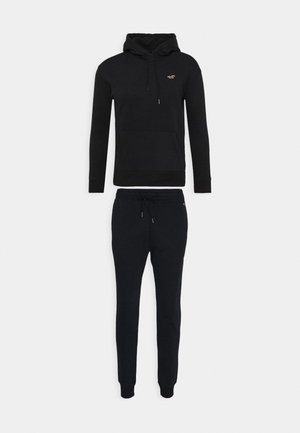 SET SWEATSHIRT AND SWEATPANTS  - Sweater - black