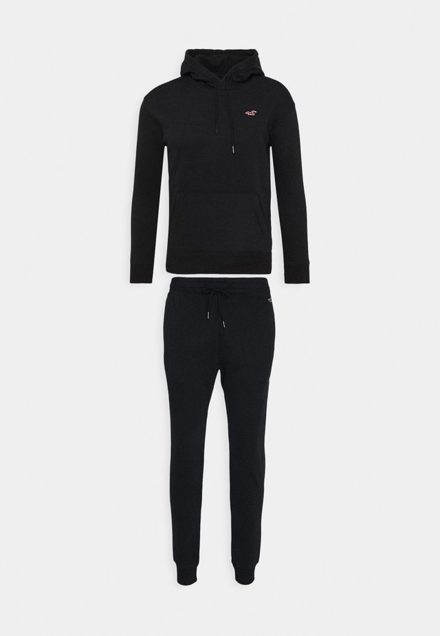SET SWEATSHIRT AND SWEATPANTS  - Sweatshirt - black