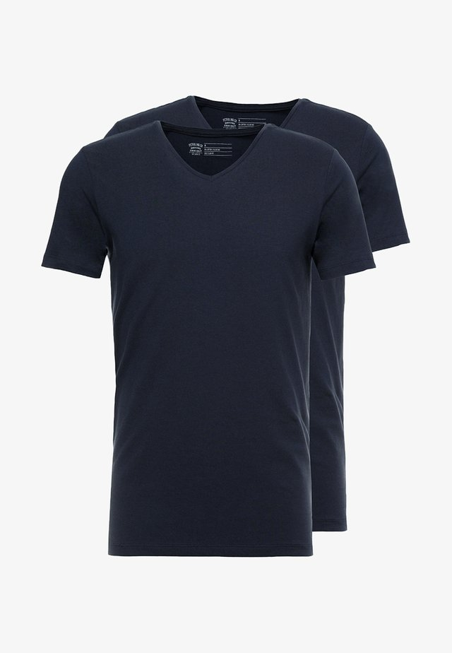2 PACK - T-shirt basic - deep navy
