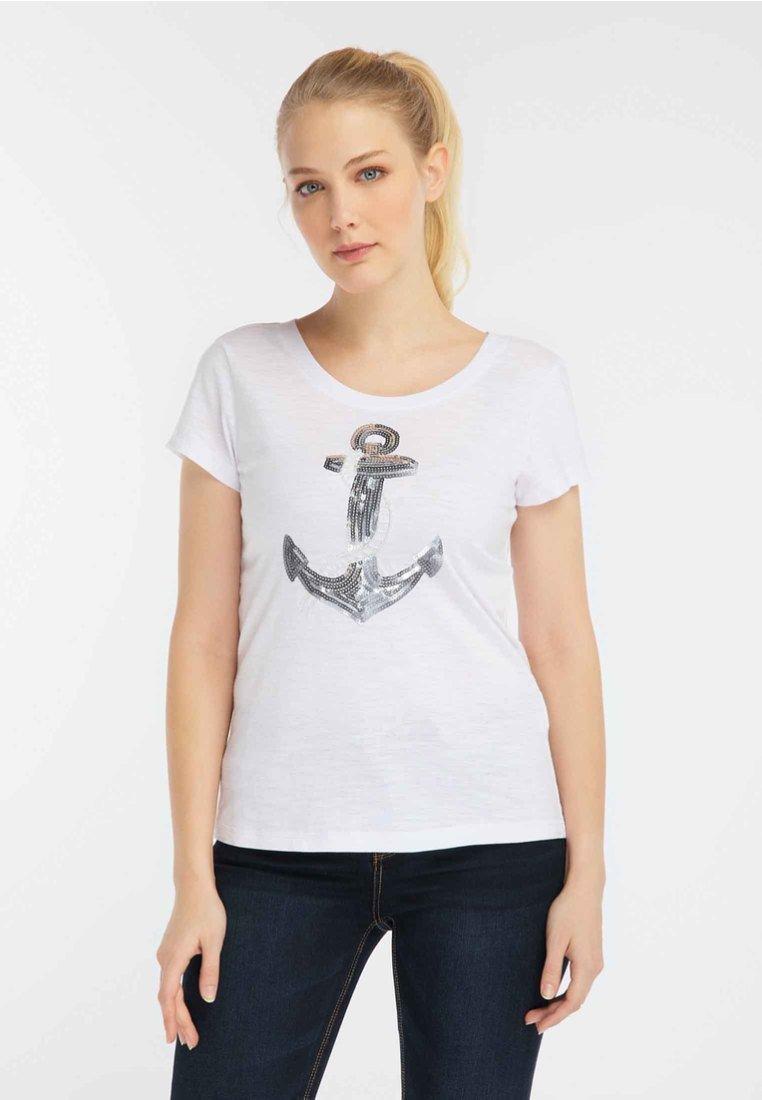 Damen DREIMASTER DAMEN MIT PAILLETTEN - T-Shirt print