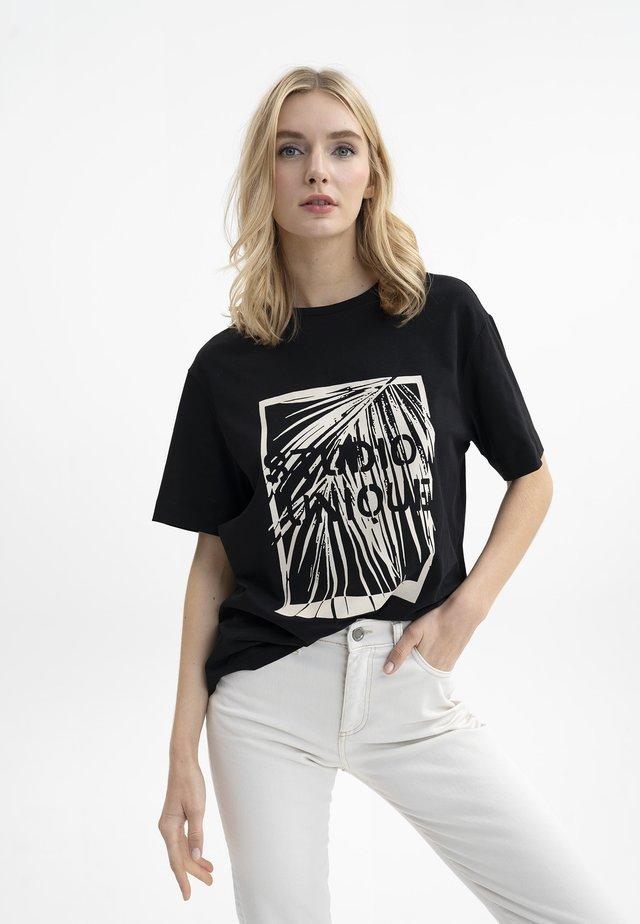 MIT DRUCK - Print T-shirt - schwarz
