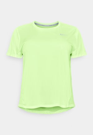 DRY MILER PLUS - Basic T-shirt - barely volt/reflective silver
