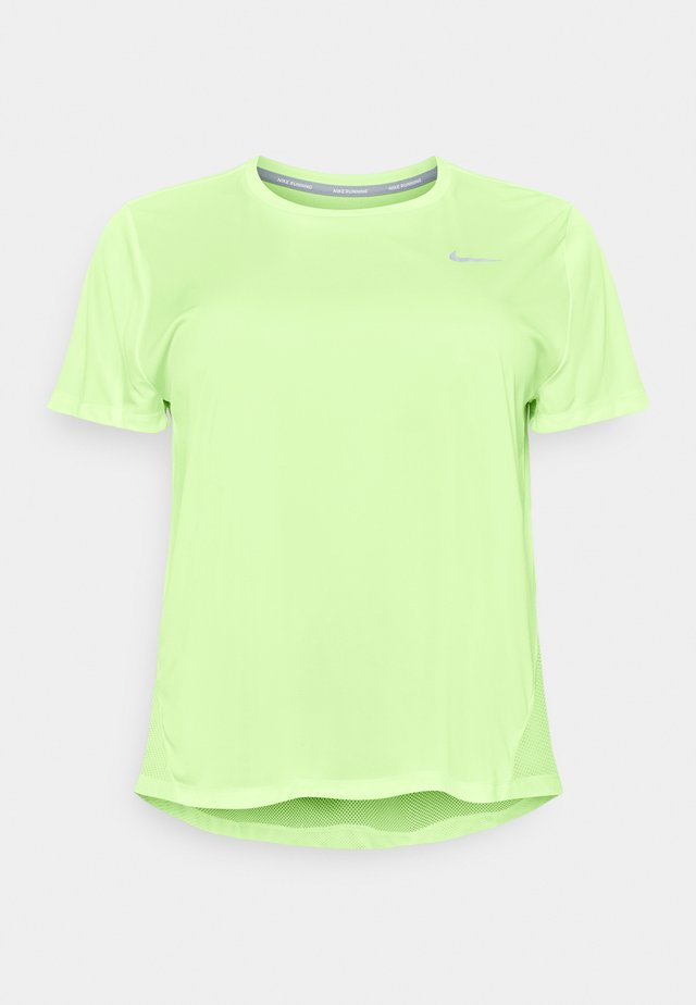 DRY MILER PLUS - Basic T-shirt - barely volt/reflective silver