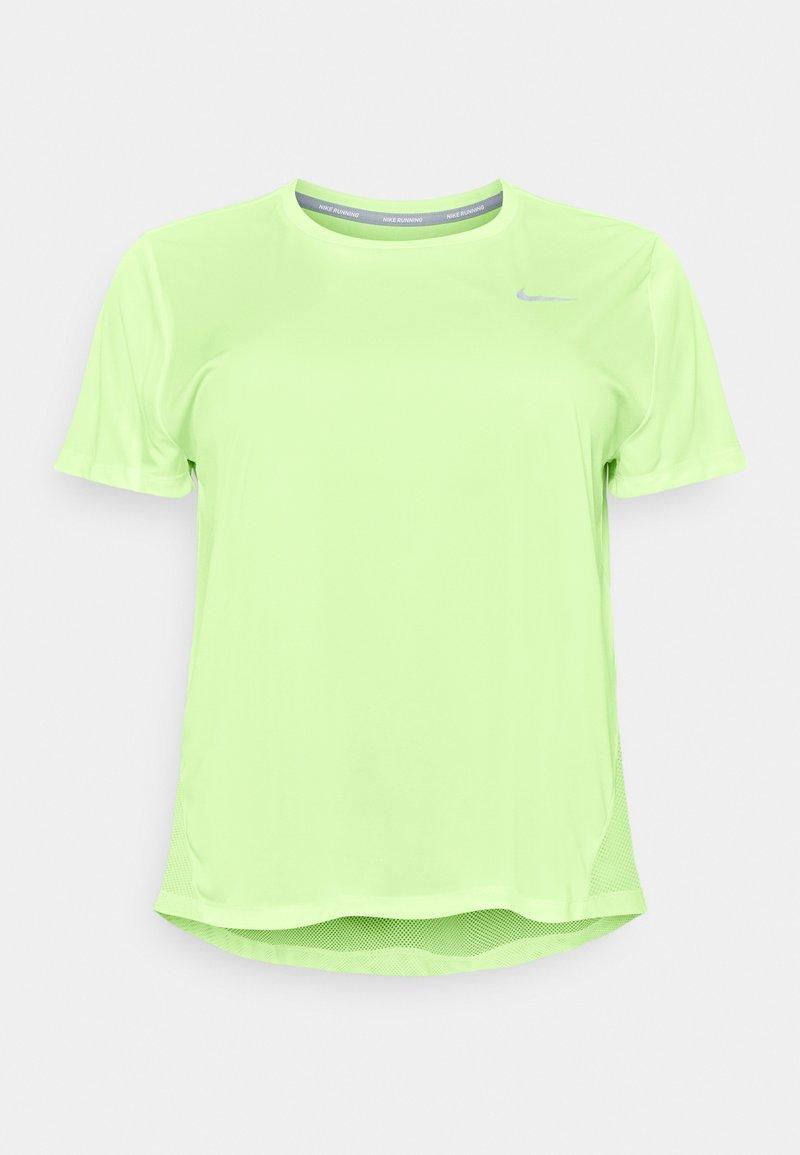 Nike Performance - DRY MILER PLUS - Basic T-shirt - barely volt/reflective silver