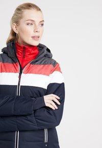 CMP - WOMAN JACKET ZIP HOOD - Kurtka narciarska - black/blue - 4