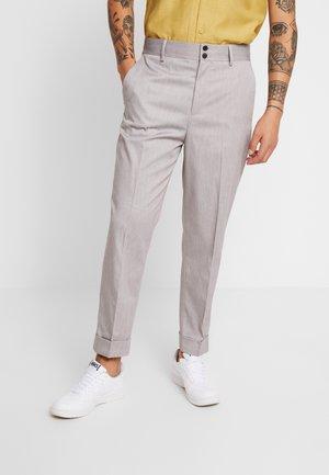 BENIN PEG LEG - Trousers - grey