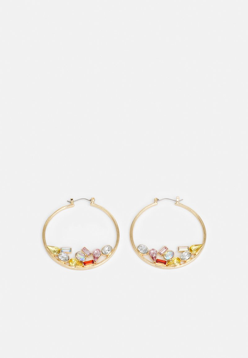 Pieces - PCMAGGA HOOP EARRINGS - Earrings - gold-coloured/multi