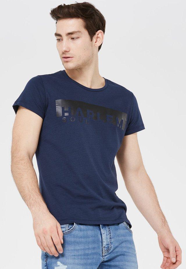 BEL-FAST  - Print T-shirt - middle blue