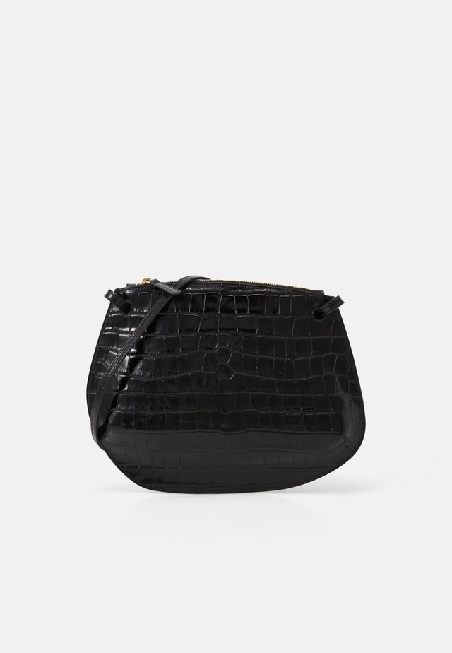PEBBLE CROSSBODY - Olkalaukku - black