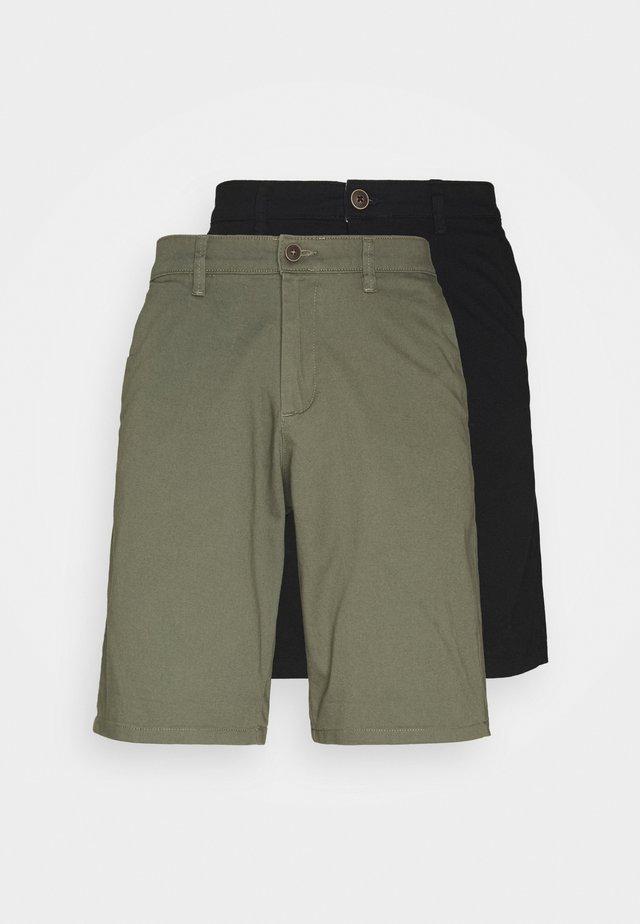 JJIDAVE 2 PACK - Shorts - black