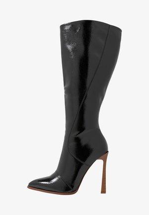 WIDE FIT ARIA - Højhælede støvler - black