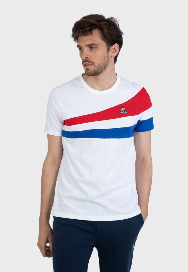 """""""TRICOLORE"""" - Camiseta estampada - white"""