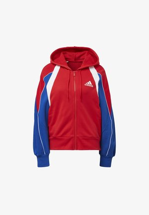 COLORBLOCK FULL-ZIP HOODIE - Zip-up hoodie - red