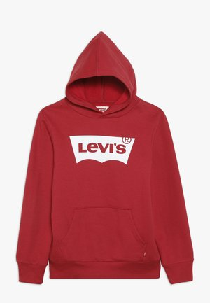 BATWING SCREENPRINT HOODIE - Kapuzenpullover - red/white