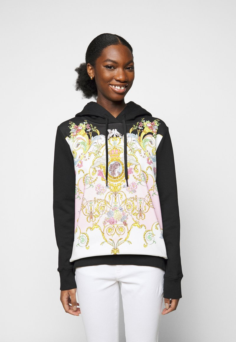 Versace Jeans Couture - LADY LIGHT - Mikina - black/pink confetti
