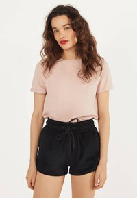 Bershka - Shorts - black - 0