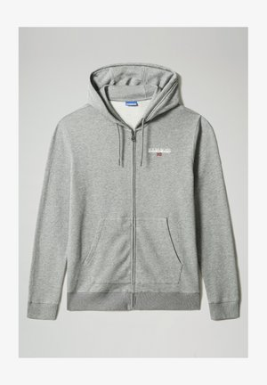 B-ICE FULL ZIP HOOD - Huvtröja med dragkedja - medium grey melange