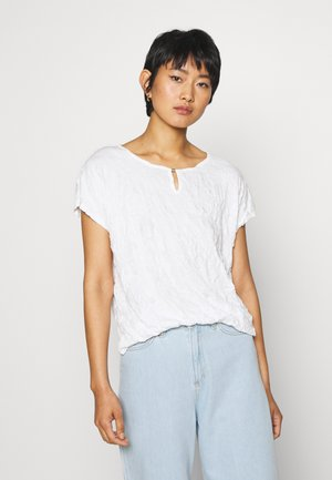 CRINCLE - Print T-shirt - whisper white