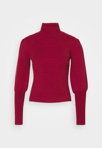 Farm Rio - PUFF SLEEVE TURTLENECK - Jumper - burgundy - 4