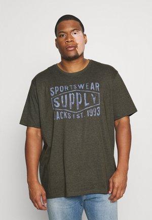 VINTAGE O NECK TEE - T-shirt print - army melange