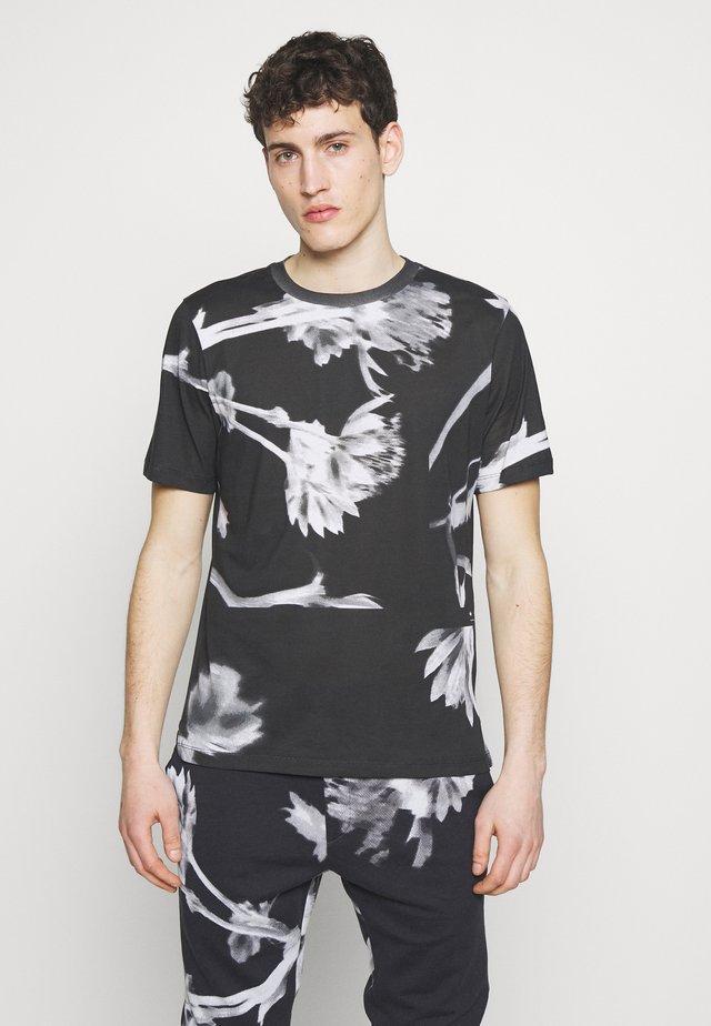 GENTS FLORAL  - Print T-shirt - black