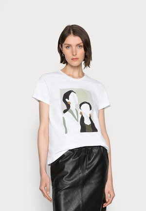 BRITT - T-shirts med print - optical white