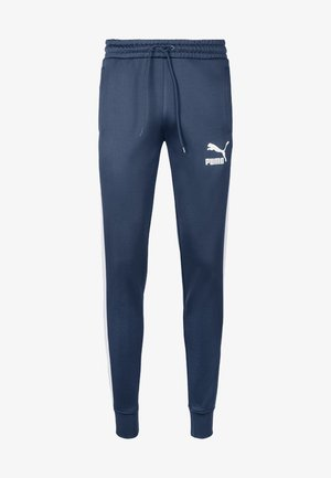 PUMA ICONIC T7 KNITTED MEN'S TRACK PANTS MALE - Tracksuit bottoms - dark denim