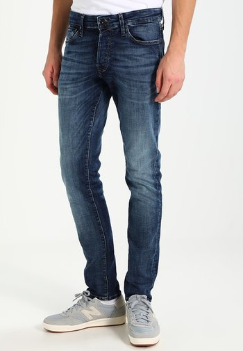 JJIGLENN JJICON - Slim fit jeans - blue denim