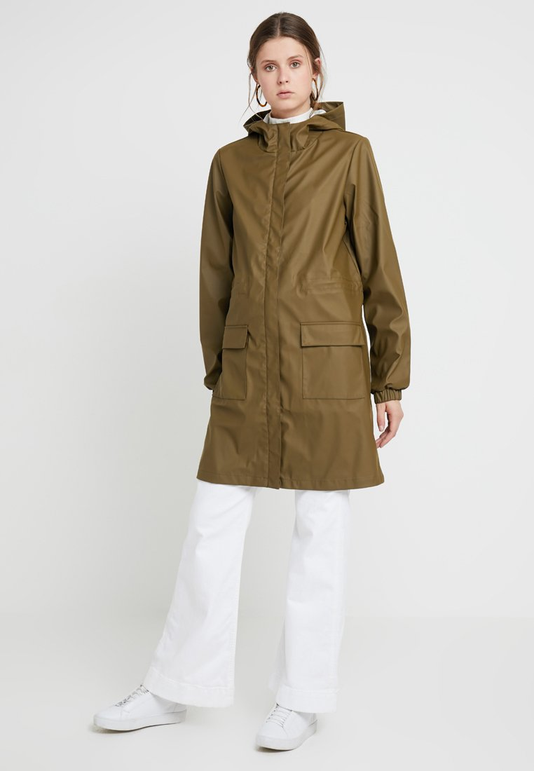 PIECES Tall - PCBOBBI RAINCOAT - Parka - beech
