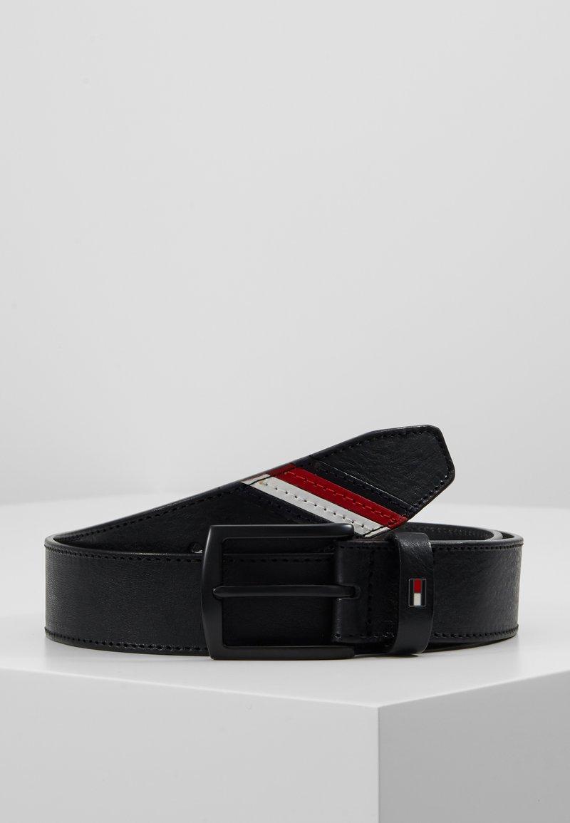 Tommy Hilfiger - DENTON STRIPE - Belt - black