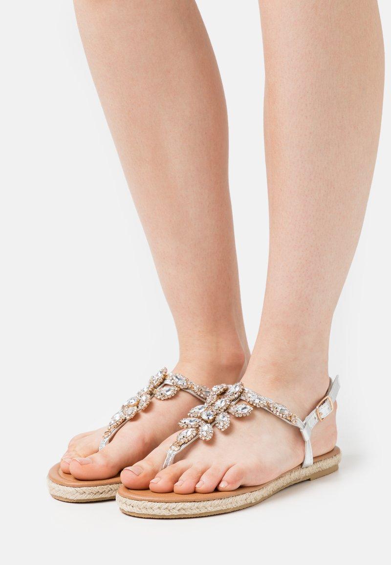 BEBO - LAILAH - T-bar sandals - silver