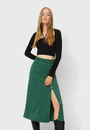 A-line skirt - mottled green