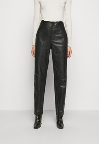 Alberta Ferretti - Leather trousers - black - 0