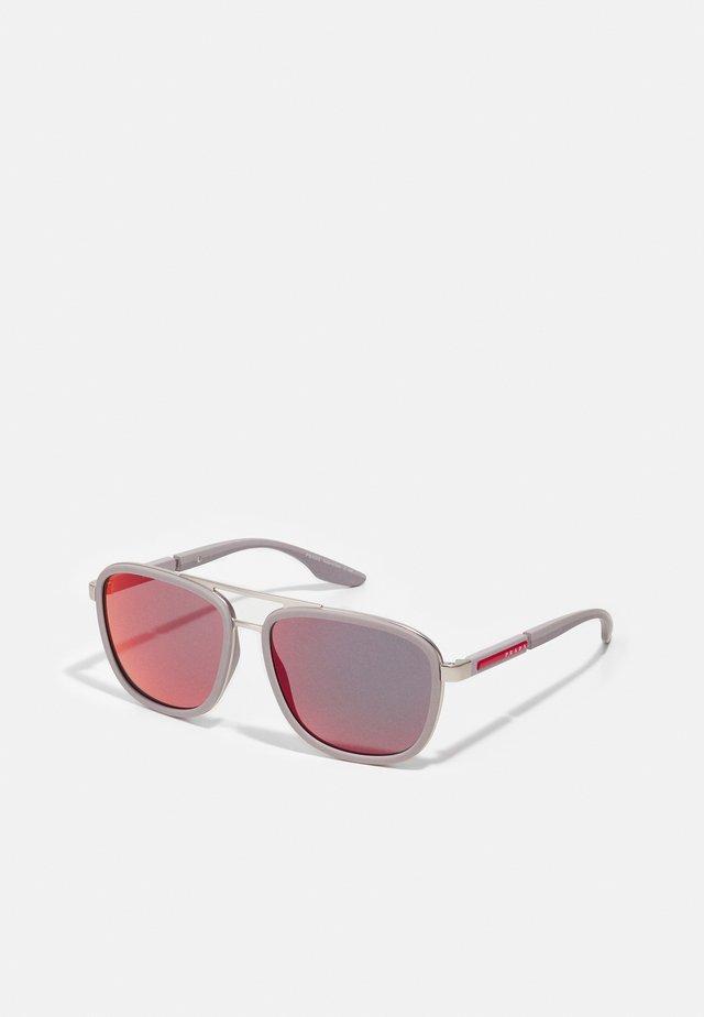 Solbriller - matte silver-coloured/ice rubber