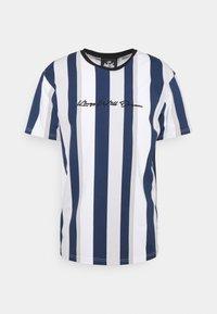REPTON STRIPE TEE - Print T-shirt - navy/grey/white