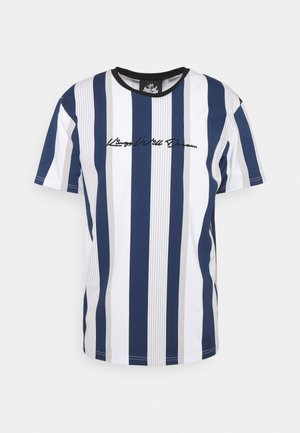 REPTON STRIPE TEE - T-shirt print - navy/grey/white