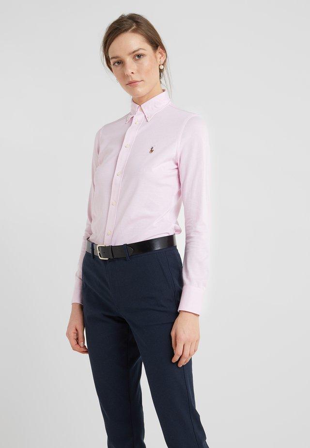 HEIDI LONG SLEEVE - Button-down blouse - carmel pink